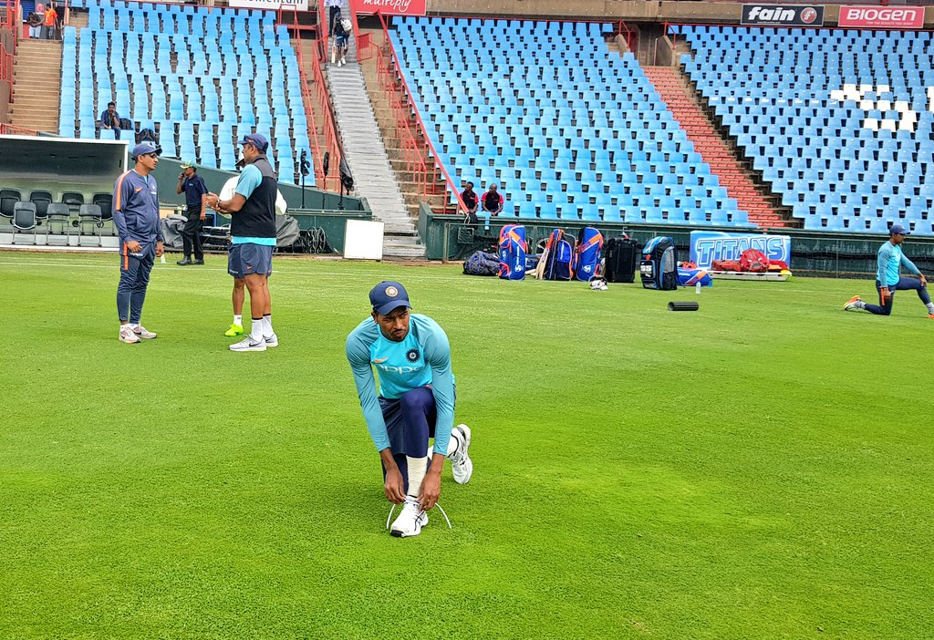 Good morning from Centurion as #TeamIndia gear up for the 2nd Test #SAvIND https://t.co/n7ebkFvd42
