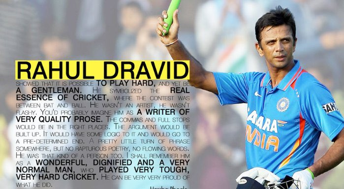 Happy Birthday \The Wall\ Rahul Dravid.. You\re unmatchable legend.
