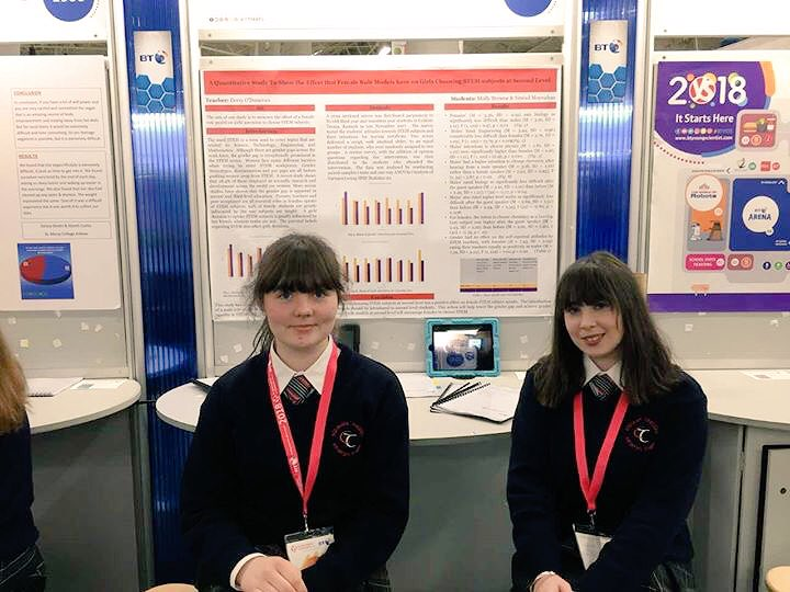 test Twitter Media - Best of luck to Molly & Sinead @colaistetreasa who worked with @gillysmurf & @lisaemurphy @UCC on their #BTYSE project investigating the effect of guest speakers on TY females' attitudes & intentions to pursue #STEM subjects @BTYSTE https://t.co/2I9WVTQtpw