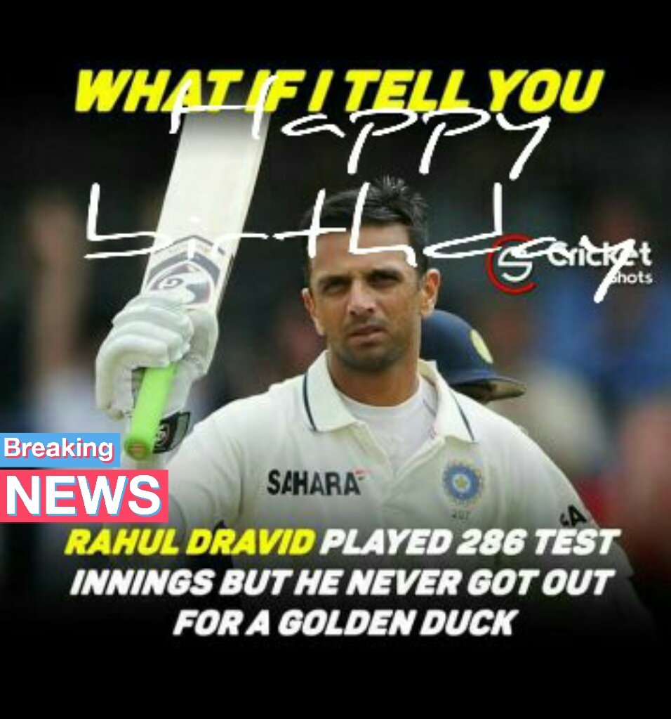 Who will remember the day of Rahul Dravid\s birthday today? Happy birthday, Dravid ji