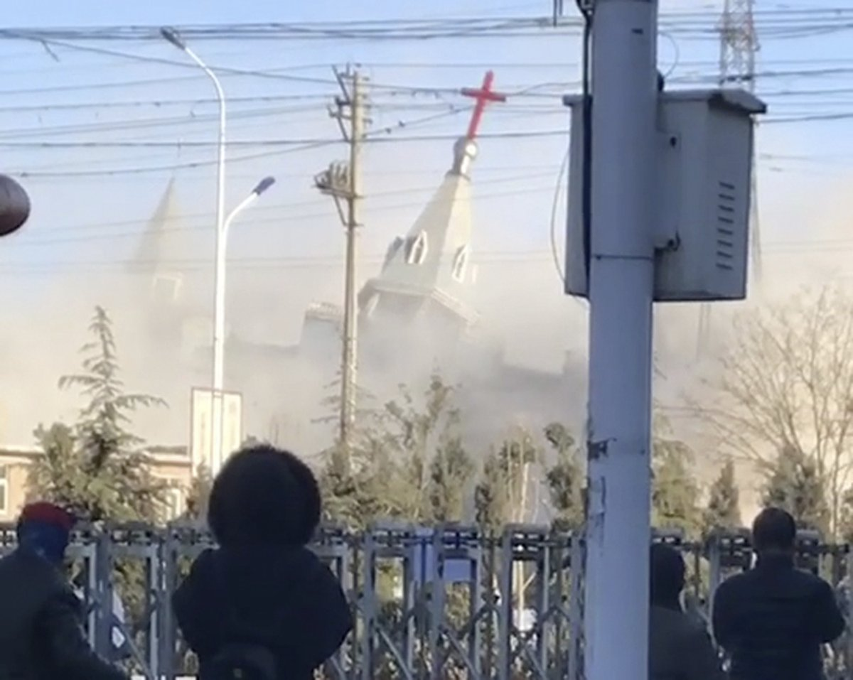 Chinese authorities demolish well-known evangelical church