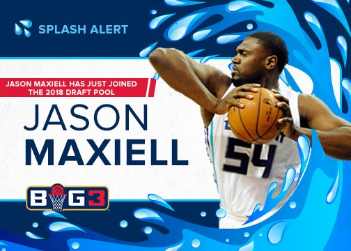 RT @thebig3: SPLASH ALERT ???? Jason Maxiell has officially signed on for #BIG3Season2. Welcome to the league! https://t.co/Qni8cpQmm7