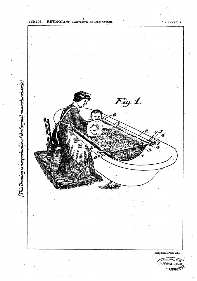 """test Twitter Media - #Patent #Specification #GB112506 #acenturyago Jan. 11, 1918  """"this invention relates to improvements in portable baths, washstands and the like, and ha for its object to provide means which are simple in construction, and thereby occupy a minimum of space [...]"""" https://t.co/VoFbLaTy69"""
