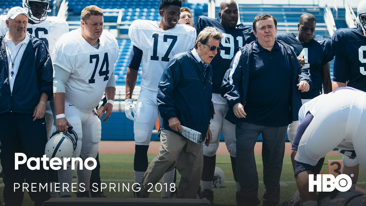 RT @HBO: Al Pacino is Joe Paterno in #PaternoHBO. Premieres Spring 2018 on #HBO. https://t.co/AhyjMgmoTC