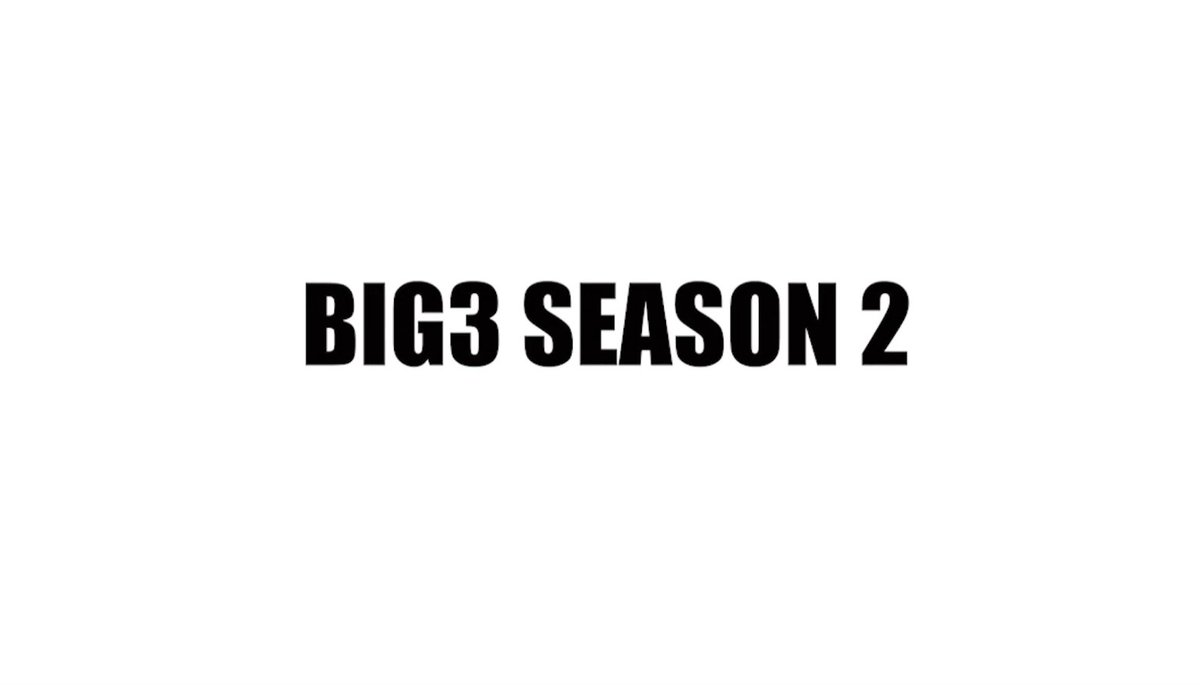 A year ago today we changed the game when we launched the @thebig3. This Summer season 2 will be bigger and better. https://t.co/F9dKFCieCl