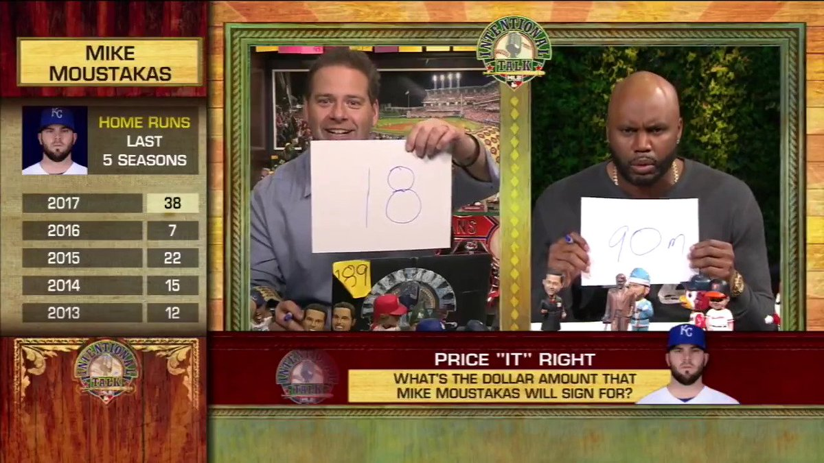 "How much will J.D. Martinez eventually sign for? Moustakas? Darvish?   @ChrisRose & @CliffFloyd30 threw out their guesses in a game of ""Price IT Right"" yesterday on #IntentionalTalk! https://t.co/wSZJxDxes3"