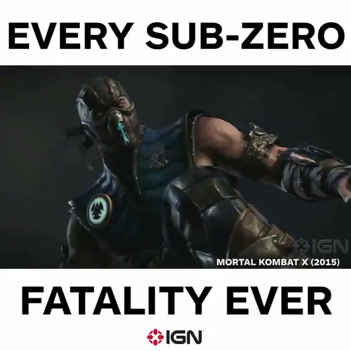 Check out all of Sub-Zero's fatalities from #MortalKombat through the years!  Which is your favorite?! https://t.co/SGfsfI2Vyn