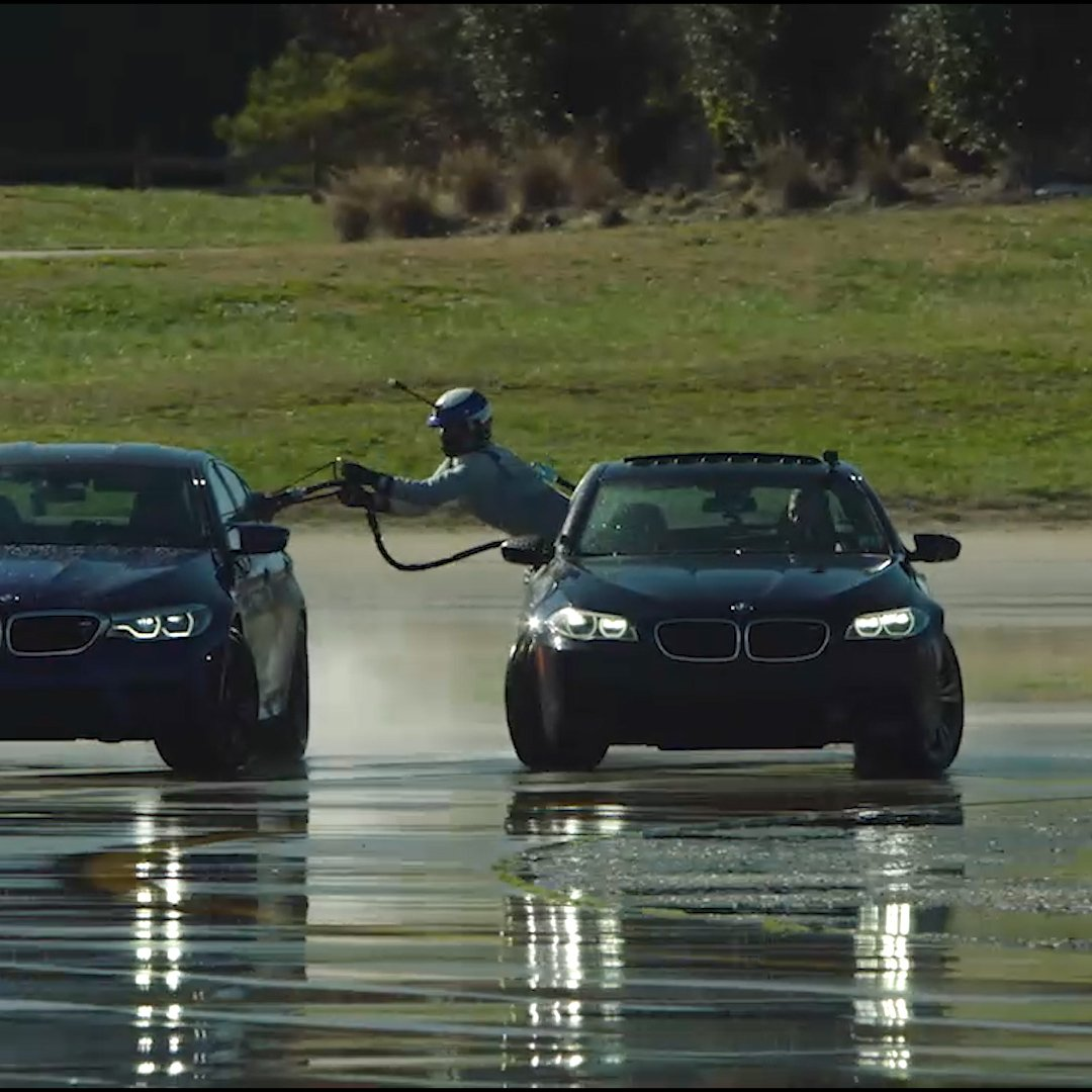 Who needs a gas station? Watch BMW refuel a car while drifting https://t.co/D0G27Vqlm3