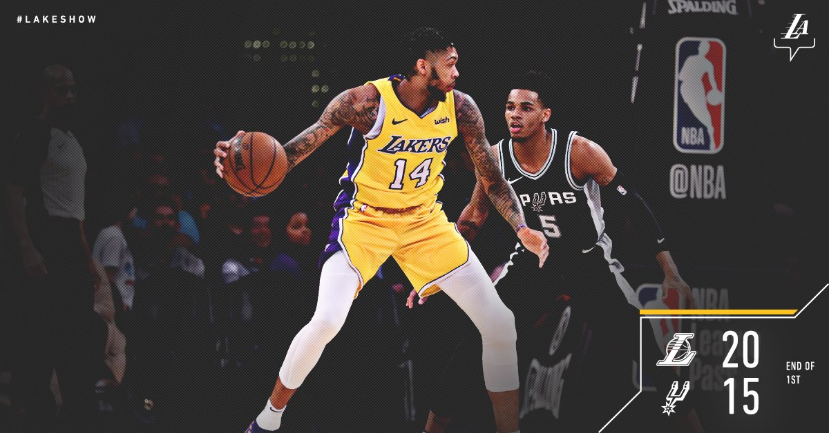 Lakers lock in defensively, as the Spurs shoot 6/21 in the first. https://t.co/ks04P7k7gB
