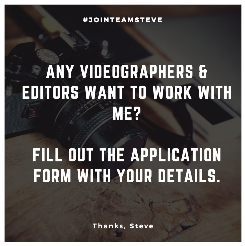 Any #videographers and #editors want to join the ride? https://t.co/7my3ioNPs6 https://t.co/1KygUQV2ju