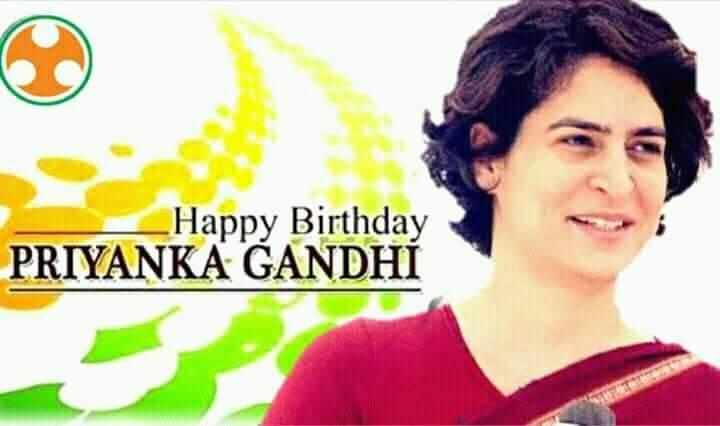 Happy birthday day Priyanka Gandhi ji