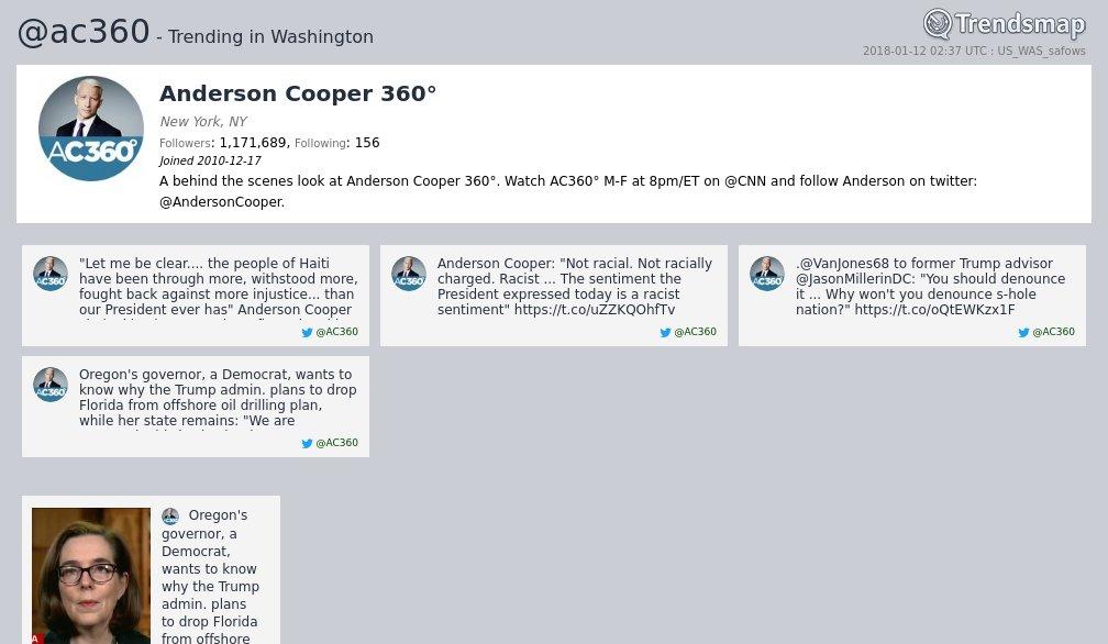 Anderson Cooper 360°, @ac360 is now trending in #DC  https://t.co/kFfjyGCCQE https://t.co/kVKJEm44VH