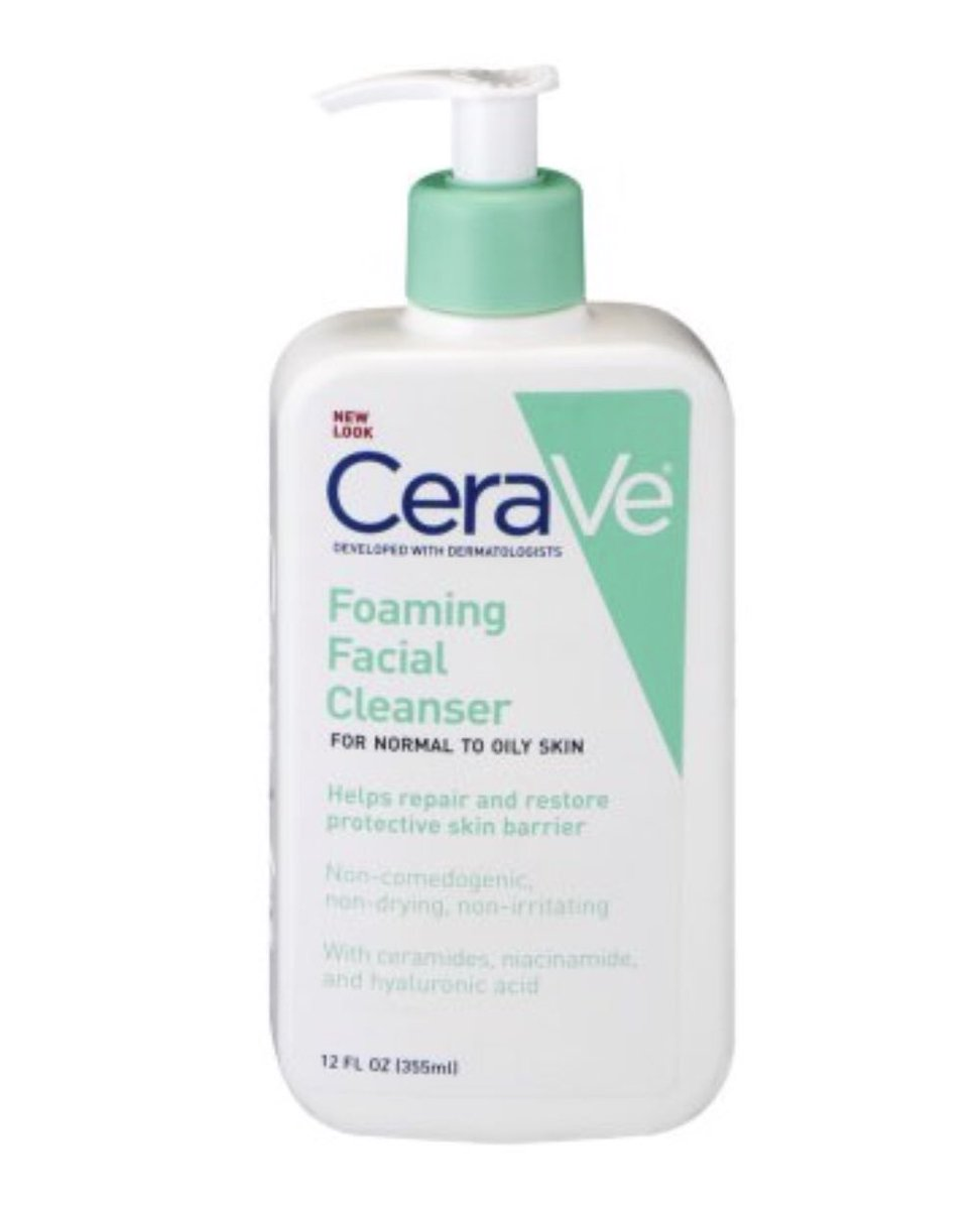 I wash my face twice a day (morning and night) with this. CeraVe is honestly...