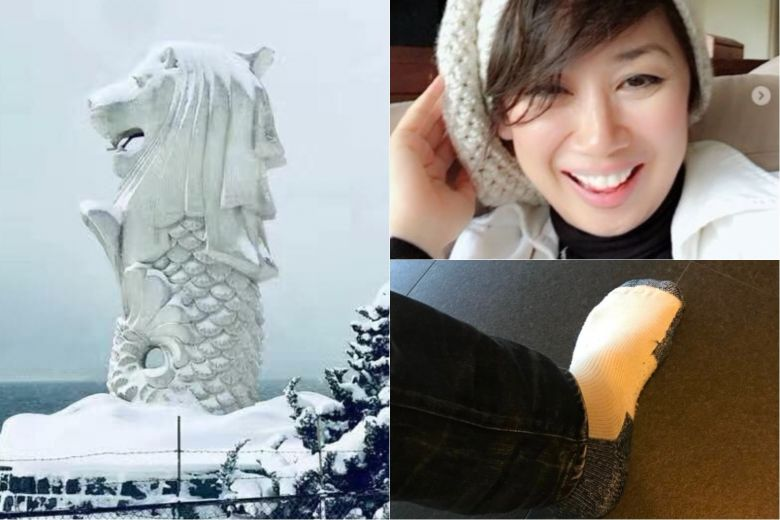 Snowy Merlion, beanies, padded socks: Social media users respond to Singapore's cold spell