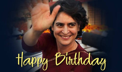Happy birthday Priyanka Gandhi(the living soul of indians iron Lady)