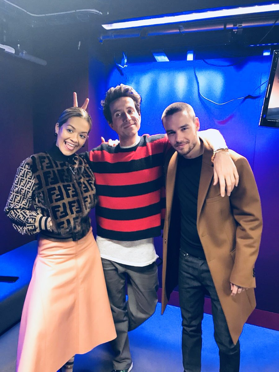 RT @LiamPayne: Always good to catch up with @grimmers and @RitaOra! Who tuned in? https://t.co/LjauK9e0EJ