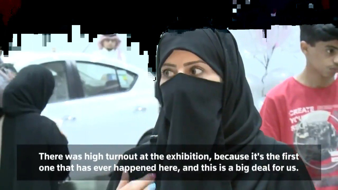 INSIGHT: Saudi Arabia's first motorshow just for women. More from @ReutersTV: https://t.co/2XzYz46uJQ https://t.co/4PxP92kWuh