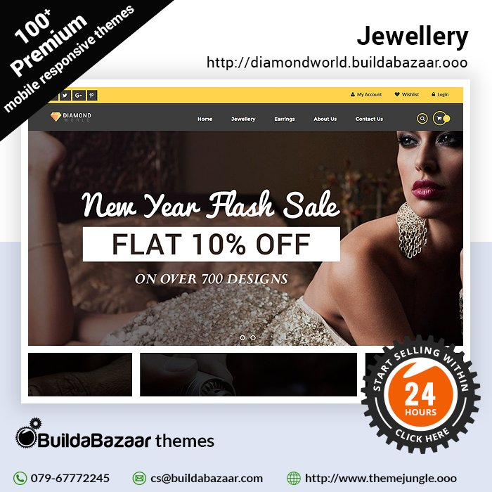 test Twitter Media - String on the pearls, add glamour with the diamonds, glitter in gold or simply add a touch of attitude to your dazzling jewellery collection with the Jewellery theme at https://t.co/bH01QTwNml. #infibeam #buildabazaar #themejungle #buildabazaartheme https://t.co/hB4Cb4mUx1 https://t.co/Qs6SFD4Nca