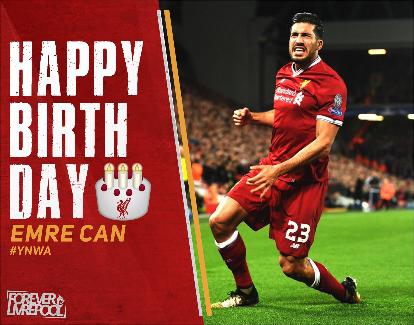 Today, Happy 24th Birthday Emre Can   Wish you all the best, Bro