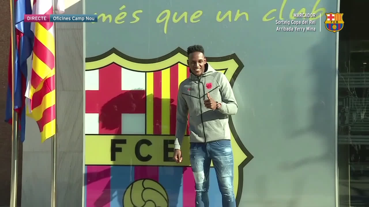 �� Welcome to Camp Nou, Yerry Mina! �� ���� https://t.co/yokydRkmnP