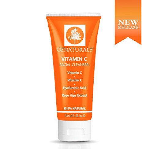 OZNaturals Vitamin C Facial Cleanser – The Most Effective Anti Aging Face...