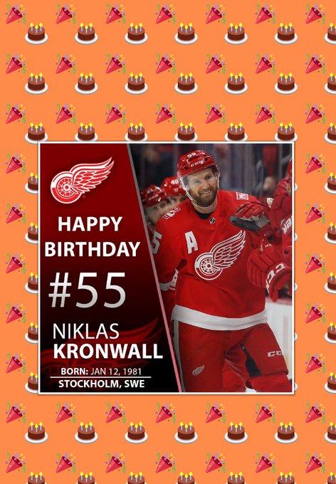 Also happy birthday to Niklas Kronwall!
