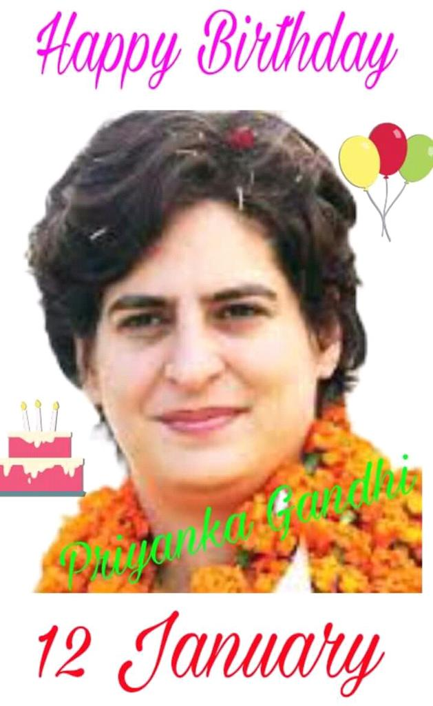 Happy birthday to priyanka Gandhi Vadra didi ji
