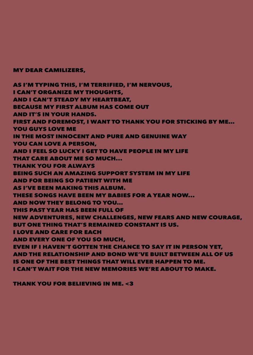 RT @Camila_Cabello: i love you. thank you. #ThisIsCAMILA #CAMILA 🦋 https://t.co/ITW4xVSDjQ