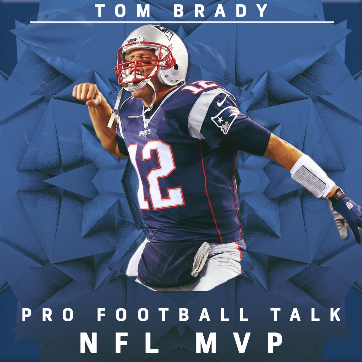 With 4,577 yards and 32 TDs, @Patriots QB Tom Brady has been named @ProFootballTalk MVP. https://t.co/2mt7nBxFI7 https://t.co/6jluI7R88w