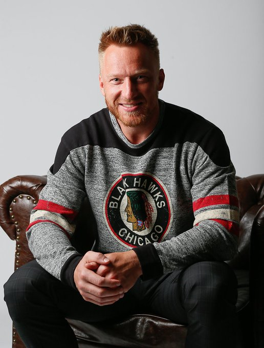 Happy Birthday, Marian Hossa!   Marian is wearing the Red Jacket Preston Sweater.