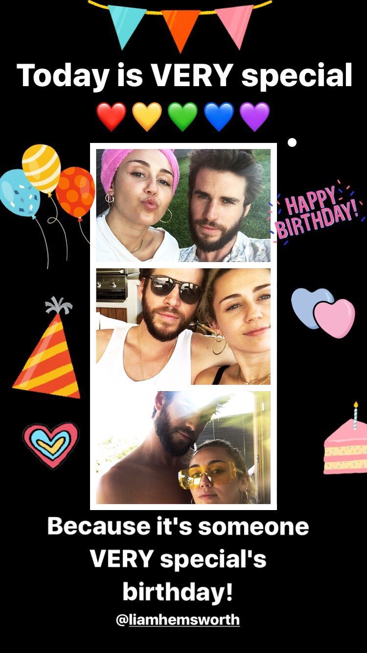 Today is VERY special! ❤️�������� Because it's someone very special's birthday! @LiamHemsworth https://t.co/QOSl6QYyLf