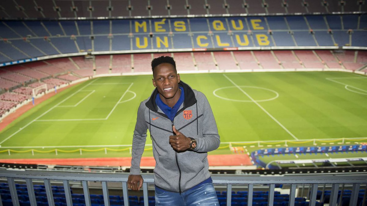 RT @FCBarcelona_es: 😀 Yerry Mina 🔵🔴 #ForçaBarça https://t.co/aVmH7lVfD1