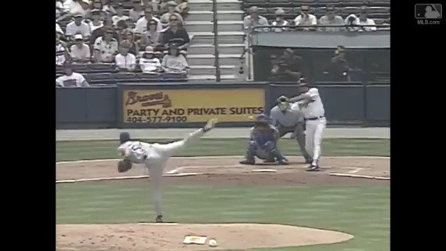 Yeah, @gregmaddux was #LightsOut.  But he could break out the lumber, too. #FlashbackFriday https://t.co/dAA9nJpCjG
