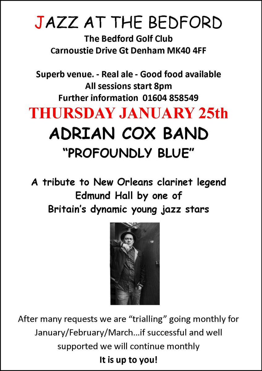 test Twitter Media - Just a reminder that our jazz evening is fast approaching and we have tickets available for anyone who would like to come along! It's ging to be a great evening with the very talented Adrian Cox Band. Take a listen to what's in store... https://t.co/RDSNB8bm2z https://t.co/VnL8PAtPur