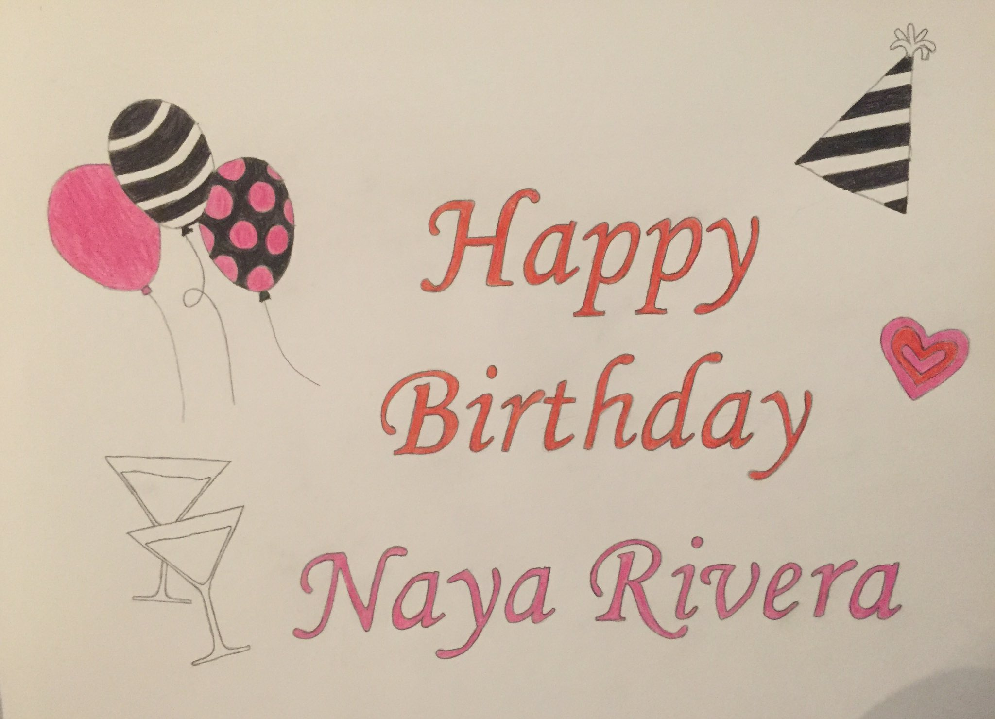 Happy Birthday to the amazing Naya Rivera  I hope you have an amazing day with your loved ones