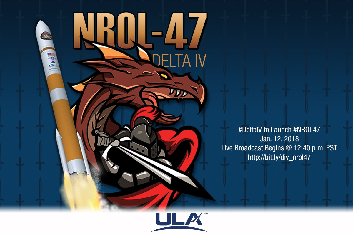 RT @ulalaunch: Live coverage of the #DeltaIV #NROL47 begins in 10 minutes! https://t.co/PurRq1guw6 https://t.co/Wceo5Bqczp