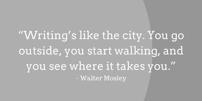 Happy birthday to Walter Mosley.