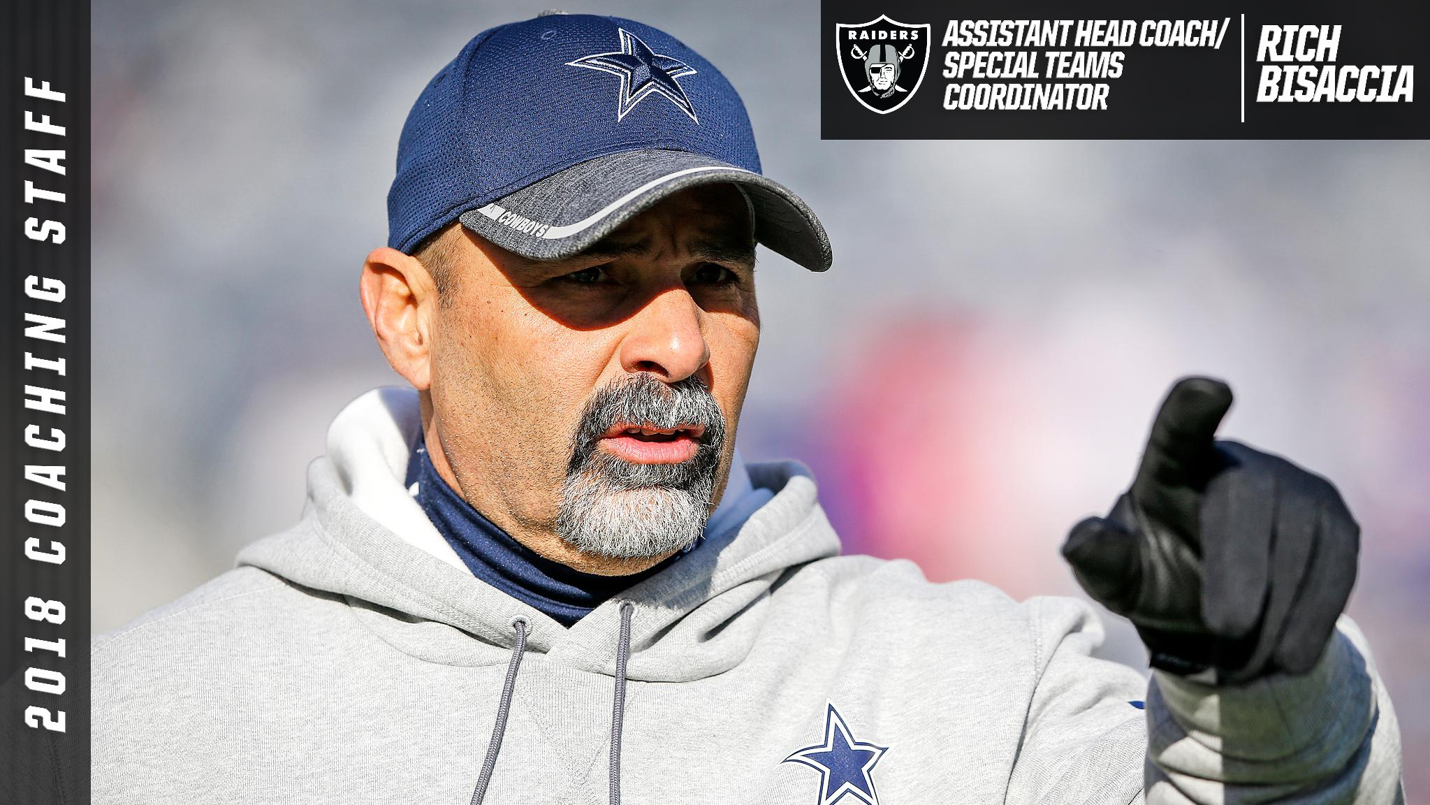 We have named Rich Bisaccia Assistant Head Coach/Special Teams Coordinator.  More: https://t.co/hdKJlFDuK9 https://t.co/kuO6DCDe3R
