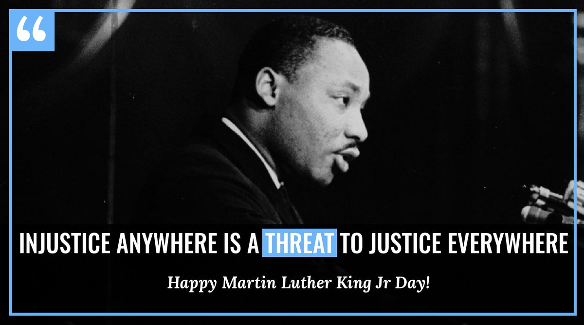 """Dr. Martin Luther King, Jr. once told us """"Our lives begin to end the day we become silent about things that matter."""" So on this #MLKDay, let us not be afraid to speak out against intolerance, speak out against harassment and speak out against injustice. https://t.co/5lGBaHt3fe"""