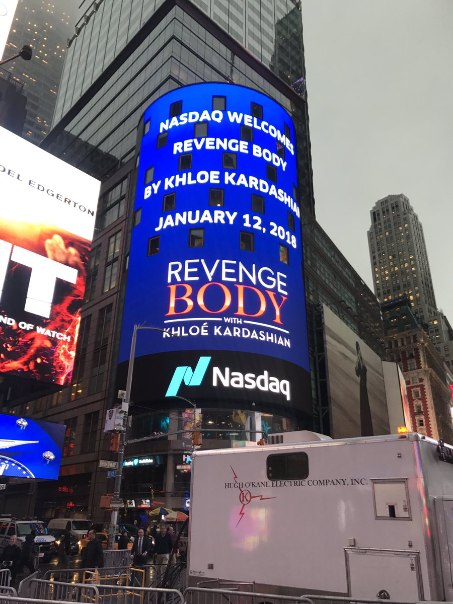 RT @Nasdaq: ???? It's a tower takeover! @khloekardashian @RevengeBody #RevengeBody https://t.co/ycPK6j4tQa