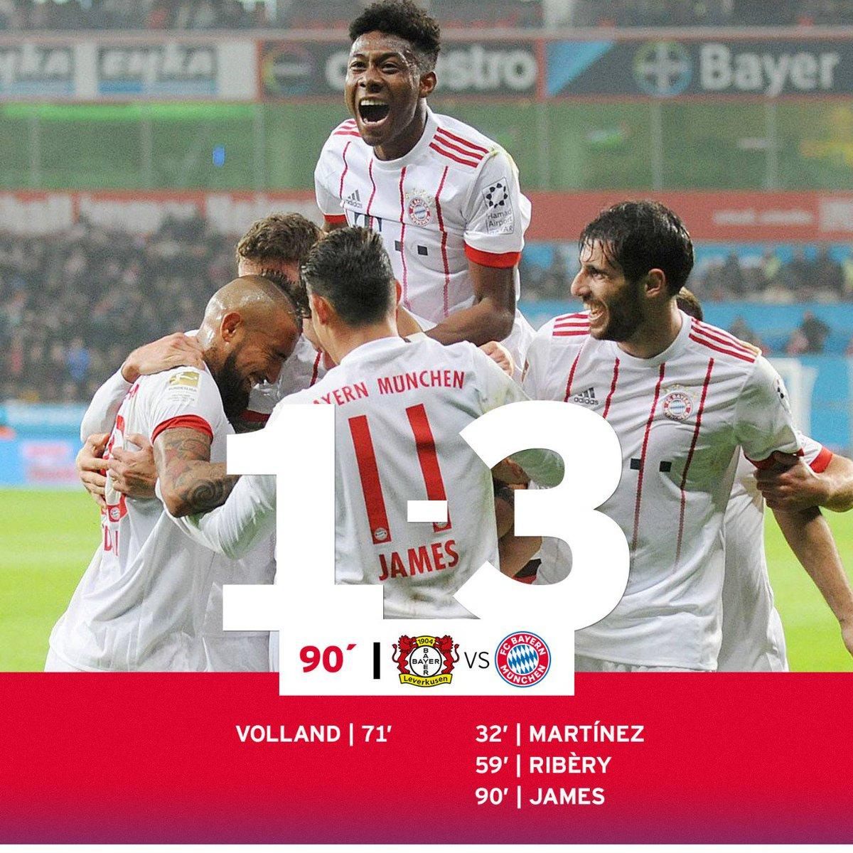 RT @FCBayern: AUSWÄRTSSIEG! 1⃣. Pflichtspiel 2018. 1⃣. ganz wichtiger Dreier. Jaaaaaaaaaaaa! 🔴⚪🤩 #B04FCB #MiaSanMia https://t.co/XsydAgTJci