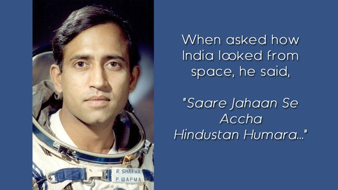 Happy birthday, Rakesh Sharma!