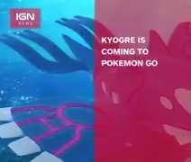 The legendary #Pokemon​ #Kyogre is coming to #PokemonGO​! https://t.co/tDrQ3LDwGr
