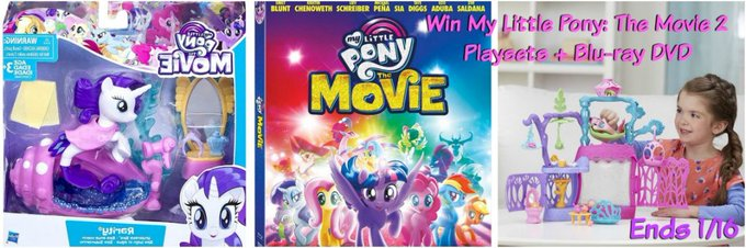 Little Pony Blu-Ray and 2 Playsets GA-1-US Ends 1/16