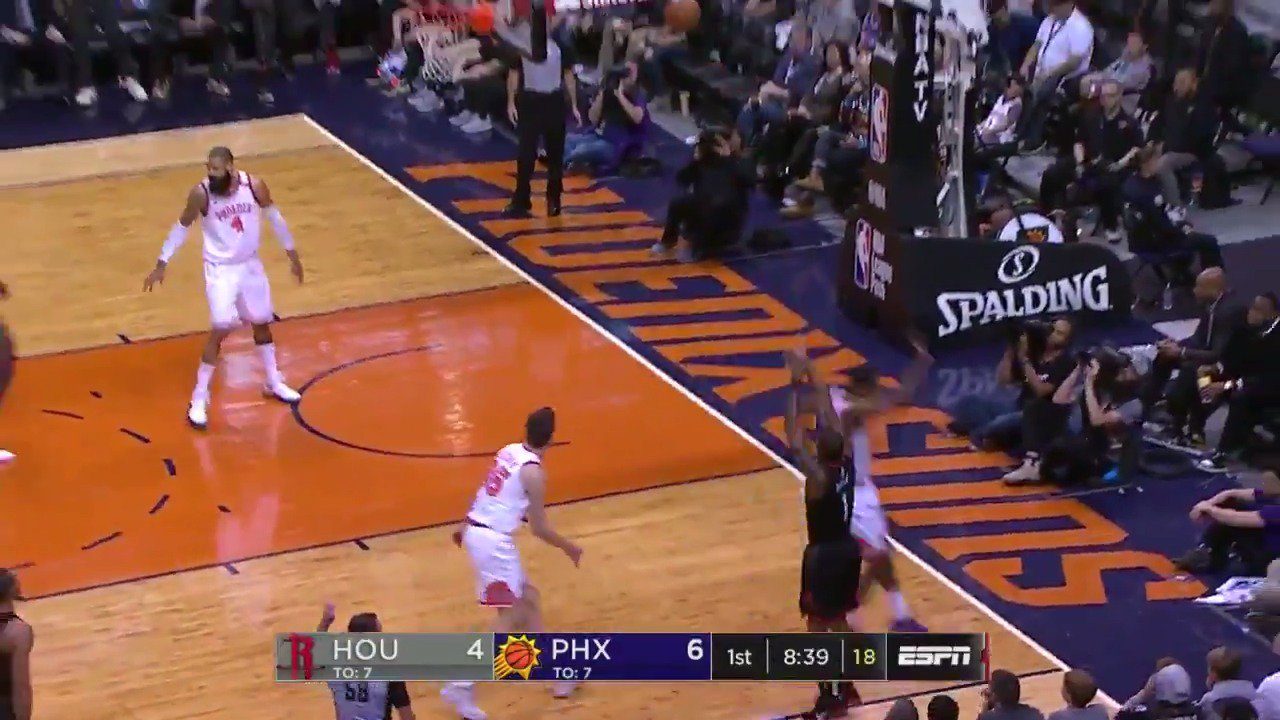 Passing up a good shot for a great shot!  #Rockets x  #SUNSat50   ��: @ESPNNBA https://t.co/PvMfUzxGnc