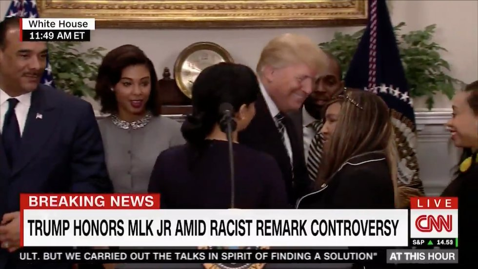 WATCH: Reporter asks Trump 'are you a racist?' after MLK Day event https://t.co/5ElD0IRPfU https://t.co/WrwWSCMSER