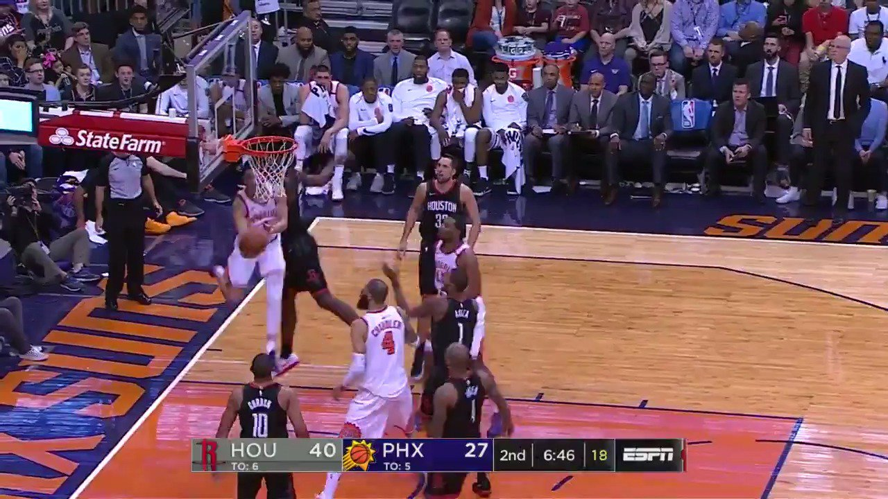 Devin Booker floats in the air on the up and under!  @Suns x @HoustonRockets are in Q2 on @ESPNNBA.   #SUNSat50 https://t.co/s8dgtiYNmW