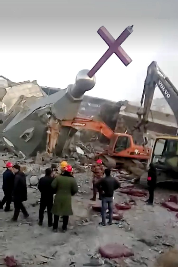 Chinese police demolish Christian megachurch in Shanxi