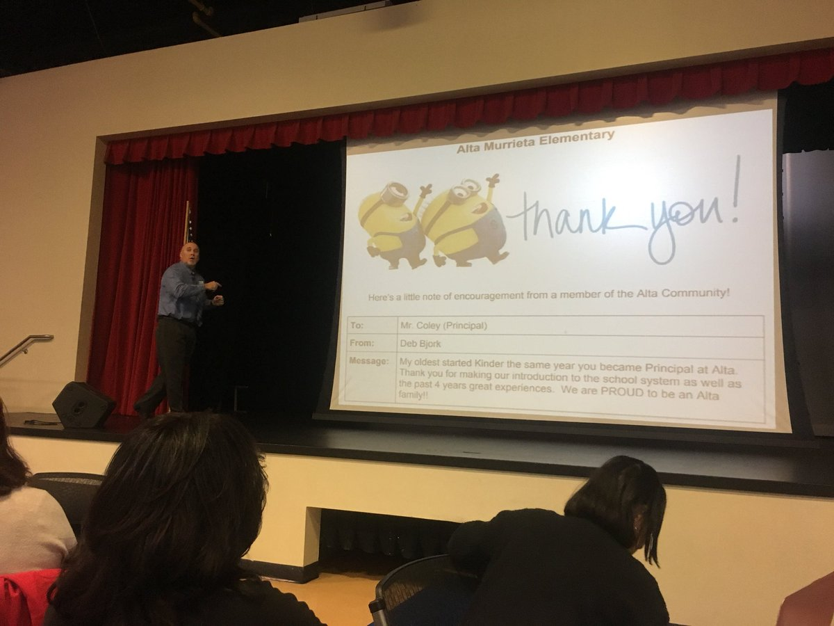 Finish the year on a positive ala @John_Eick #appreciationpeople #eduinfluence #cuela @brentcoley https://t.co/stoxALaUlo