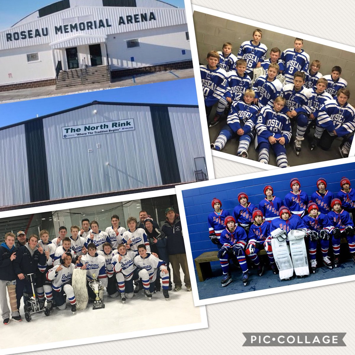 Roseau VFW Bantam AA Team, Roseau Peewee AA Team, Roseau Squirt A Team...Proud to call this HOME  #HDM2018 https://t.co/EFugHDqjMh
